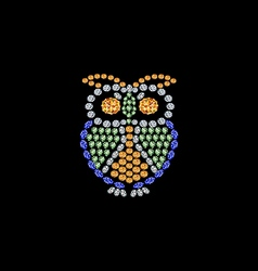 Owl from jewels vector