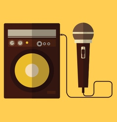 Microphone and speaker vector