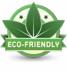 eco-friendly vector image