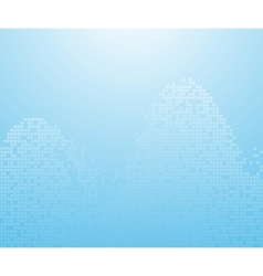 blue binary waves - background vector image