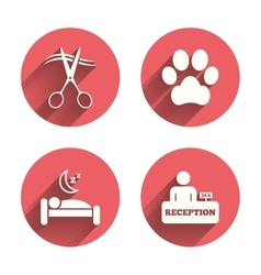 Hotel services icon pets allowed hairdresser vector
