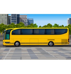 Yellow bus vector