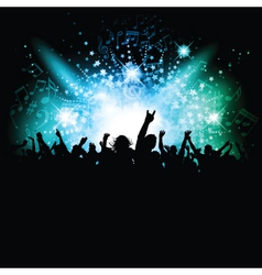 music crowd vector image