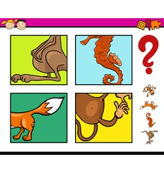 Preschool task with animals vector