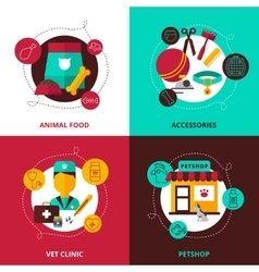 Veterinary 2x2 design concept vector