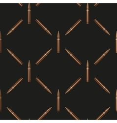 Rifle bullets pattern background vector