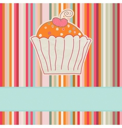 Retro cupcake car vector