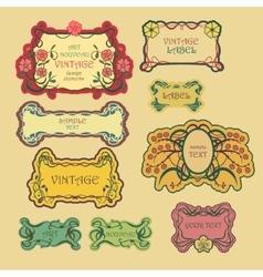 Set of ornate vintage labels vector