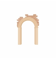 Brick semicircular arch icon cartoon style vector