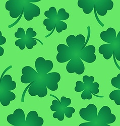 Four leaf clover pattern on green vector