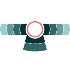 Bird wings emblem vector image