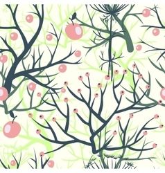 apples berries branch seamless ornament vector image vector image