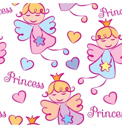 Background Princess vector image