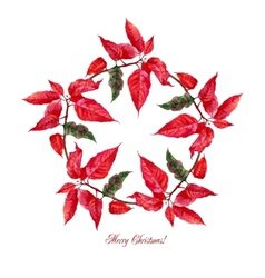 Background with red poinsettia3-01 vector image