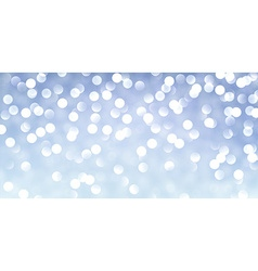 Blue banner with lights vector