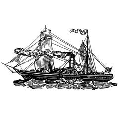 boat sirius vector image