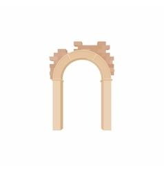 Brick semicircular arch icon cartoon style vector