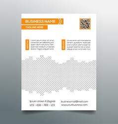 Business flyer template - sleek modern design vector image vector image