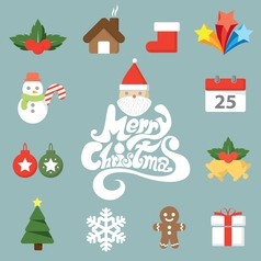 Christmas symbol icon vector