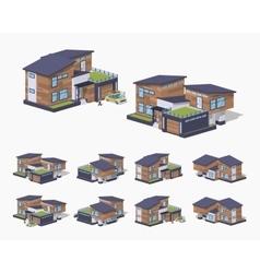 Contemporary american house vector