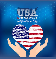 Creative fourth of july independence day poster vector