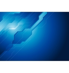 Dark blue hi-tech background vector image vector image