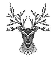Decorative Deer Portrait vector image vector image