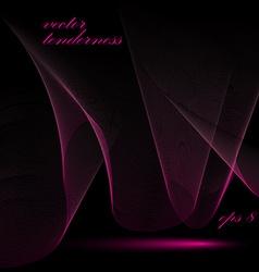 Dimensional flowing stripy ribbon romantic vector