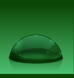 Green dome glass semi-sphere vector