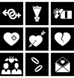 Icon love vector image vector image