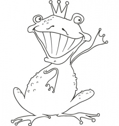 Prince frog for coloring book vector