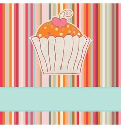 Retro cupcake car vector