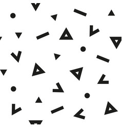 seamless abstract black pattern with triangles vector image