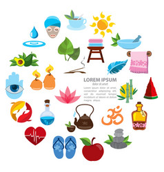 Spa infographics spa icons healthy lifestyle vector