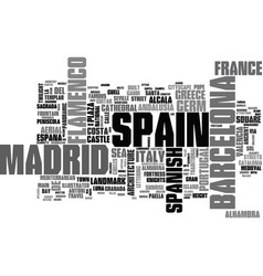 spain word cloud concept vector image vector image