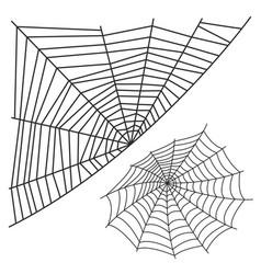 spider web silhouette arachnid fear graphic flat vector image