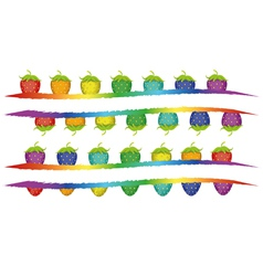 strawberries banners vector image