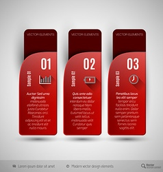 tabs as design elements for business layouts vector image