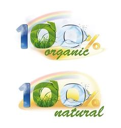 100 organic 100 natural vector