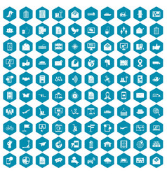100 post and mail icons sapphirine violet vector