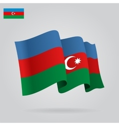 Azerbaijani waving flag vector