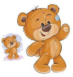 clip art art teddy bear waving vector image