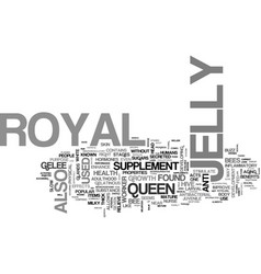 What is royal jelly text word cloud concept vector