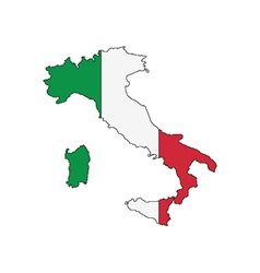 Outline of italy vector