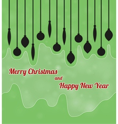 Merry christmas and happy new year with ornaments vector