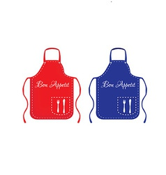 Red and blue apron vector
