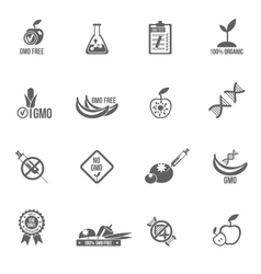Gmo icons set vector