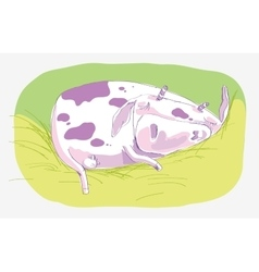 Sleeping cow vector
