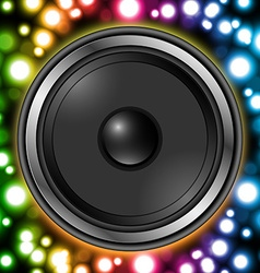 Speaker with abstract colorful background vector