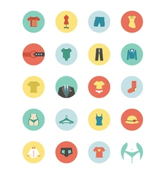 Clothing circle icon vector